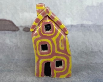 Mini House Special Edition Ceramic Art. Limited to 1 only. Inc. signed certificate. Exclusive, Highly Collectable, Handmade Artwork by Penny