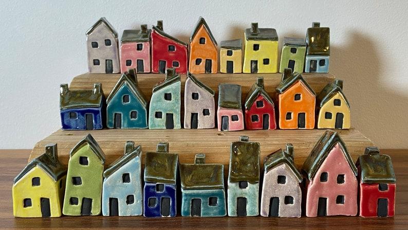 Miniature Ceramic House  Various Wall Glaze Colours  Unique image 0