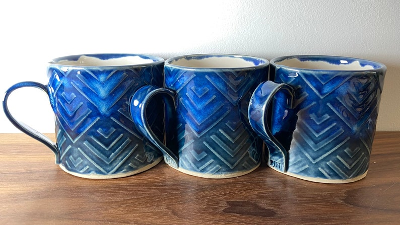 Ceramic Mugs Geometric Storm Pattern Glaze for Coffee & Tea image 0