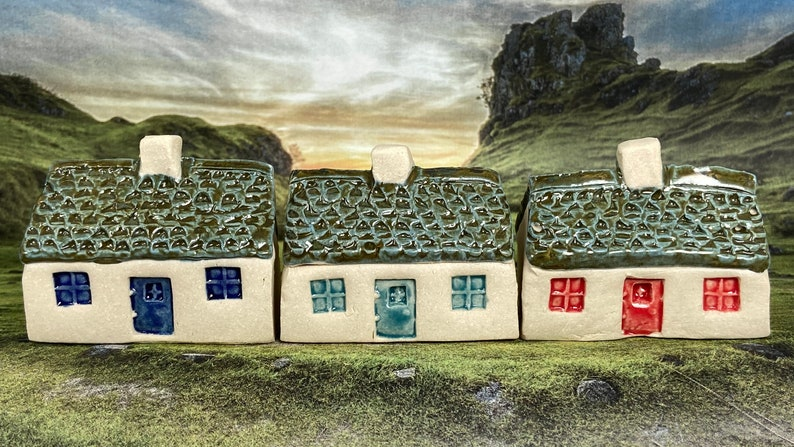 Bothy Single Chimney with Scallop Tiles. PennyPottery Original image 0