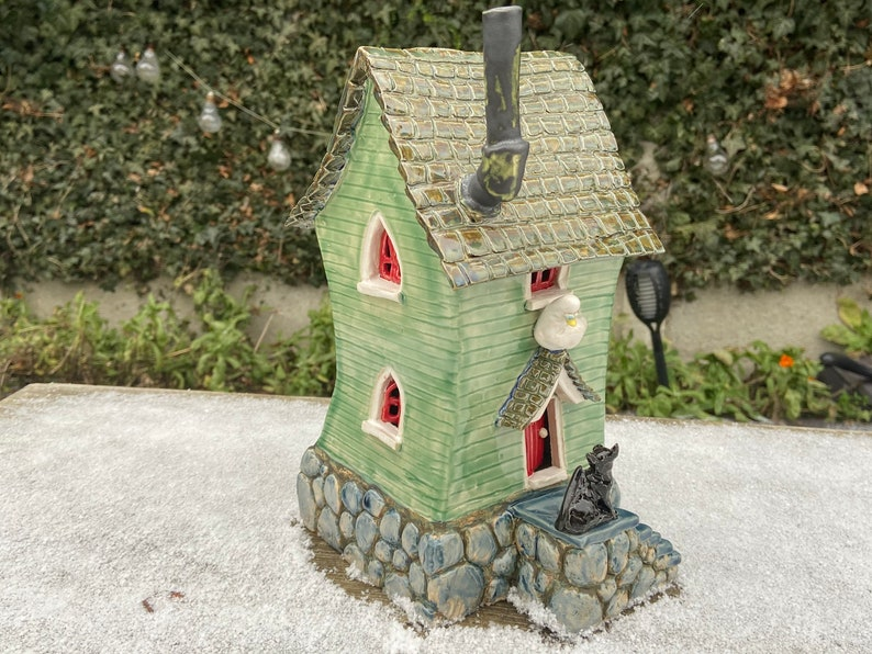 Fantasy Beach Cottage  Featuring 2 Seagulls a Cat a Snail & image 0