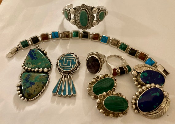 Designer Vintage America and Mexican Sterling Lot