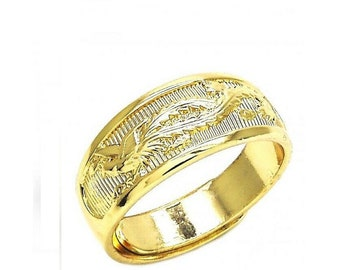 14K White /& Yellow Gold Diamond-Cut Cuff Style Adjustable Toe Ring
