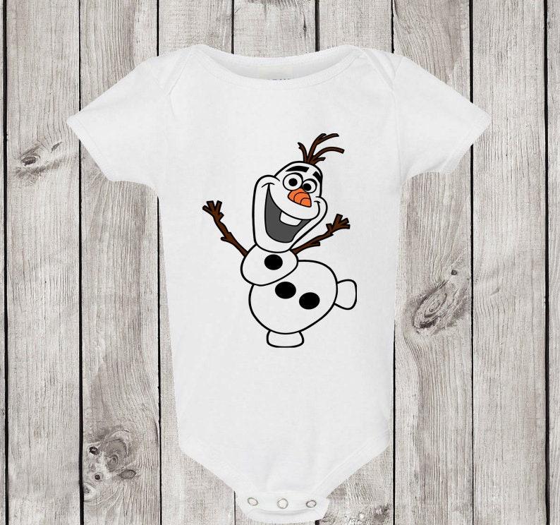 Baby Outfit Disney Frozen Olaf Baby Bodysuit Baby Bodysuit Funny Baby Bodysuit