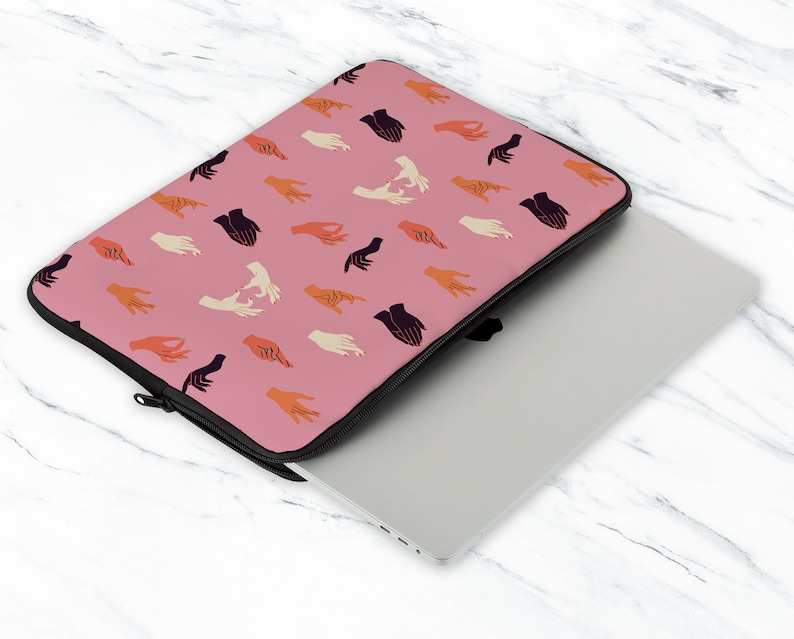 Hands Laptop Sleeve Nails Laptop Sleeve Pink Design Laptop Sleeve 12 inch Laptop Sleeve 13 inch Laptop Sleeve 15 inch Sleeve NC0415