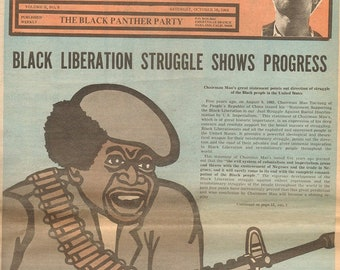 """Black Panther Party Newspaper Cover /""""Year of the Youth/"""" Poster 12x18"""