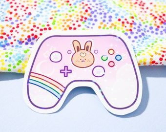 bunny controller sticker (HOLOGRAPHIC)