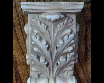 Pair Of Acanthus Leaf Corbels Older Solid Wood Architectural Wall Bracket