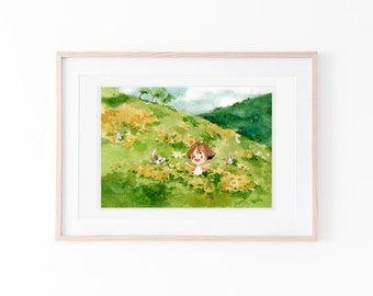 children illustration/ room decor illustration / watercolour/natureart/wallart/digitalart/story illustration/printart