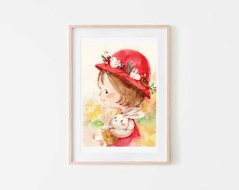 children art/ watercolour/Digital art/Wall art/ Illustration /