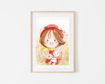 Nursery wall art, nursery art print, kids prints, nursery room decor, little girl , dream , digital download