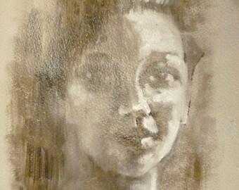 Faded portrait.  30cm x 20cm
