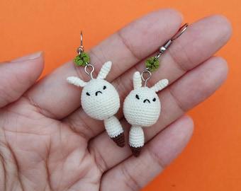 Crochet Klee Dodoco Earrings, Crochet Dodoco Earrings, Crochet Genshin Impact Earrings, Crochet Genshin Impact Accessories, Klee Earrings