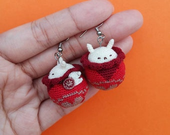 Crochet Klee Bomb Earrings, Klee Jumpy Dumpty Earrings, Klee Genshin Impact Earrings, Klee Genshin Impact Accessories, Klee Bomb Amigurumi