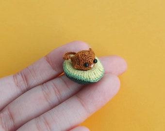 Tiny Avocato Pitten, Crochet Avocado, Tiny Avocado