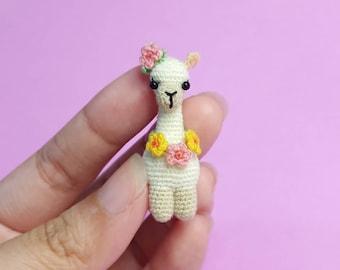 Crochet Tiny Llama, Miniature Llama, Amigurumi Llama Keychain, Tiny Llama Accessory, Gift for Llama Lovers, Llama Art
