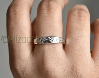 Sunrise silver Jewelry vacation Ring Sunshine Ring Silver Sunrise Ring sunrise Ring Gift for beach Lover