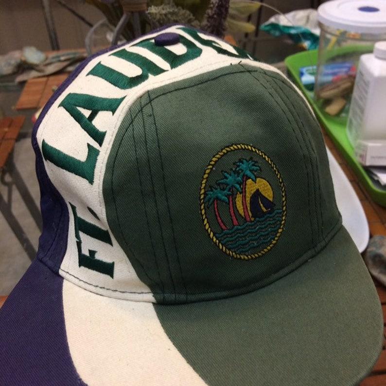 Vintage Fort Lauderdale snapback hat 1990s