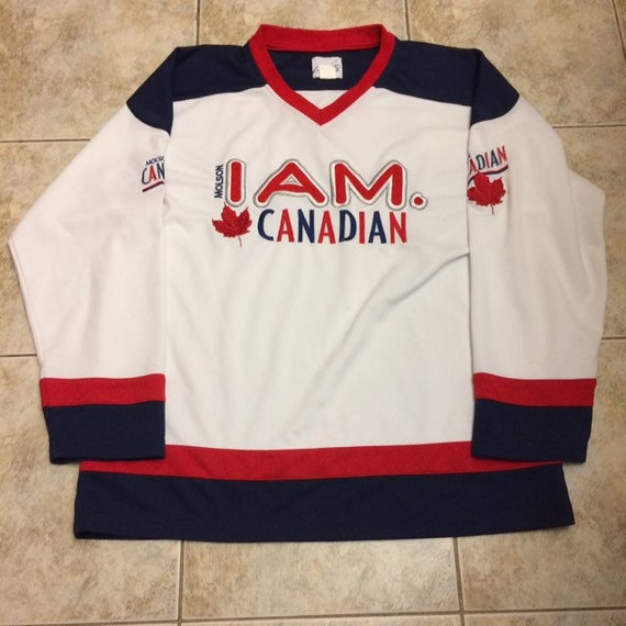 Vintage Molson Canadian hockey jersey size Large