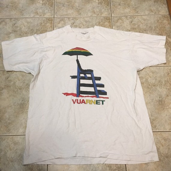 Vintage vuarnet t shirt size large 90s