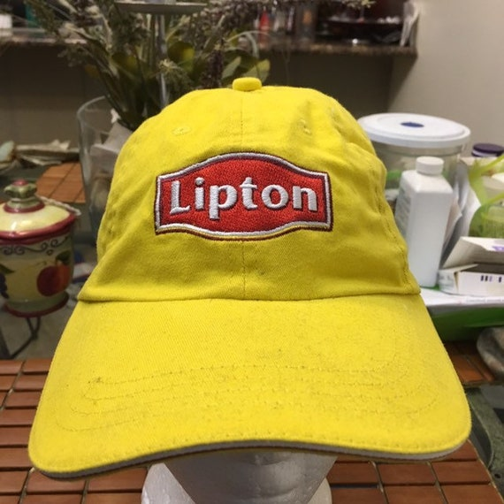 Vintage Lipton tea strap back hat adjustable