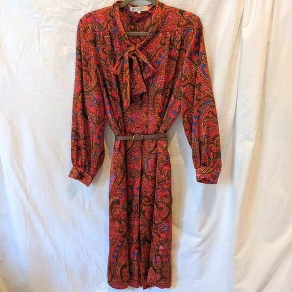 Vintage Authentic GIVENCHY GLAMOUR Print Dress w/