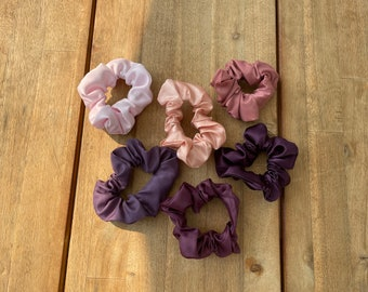 Solid color Silky Scrunchies