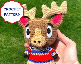 Erik Animal Crossing Crochet PATTERN- Amigurumi