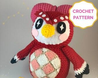 Celeste Animal Crossing Crochet PATTERN- Amigurumi