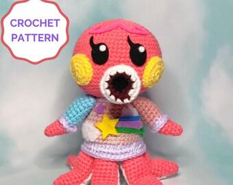 Marina Animal Crossing Crochet PATTERN- Amigurumi