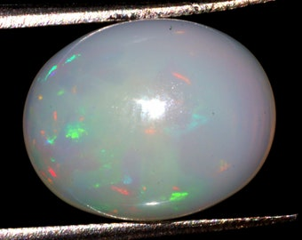Amazing Flashy Fire Opal Cabochon Jewelry Gemstone 2.00 Carat Oval Shape Ring Size Opal Cabochon Gemstone 11x9x6 MM Sku= B121