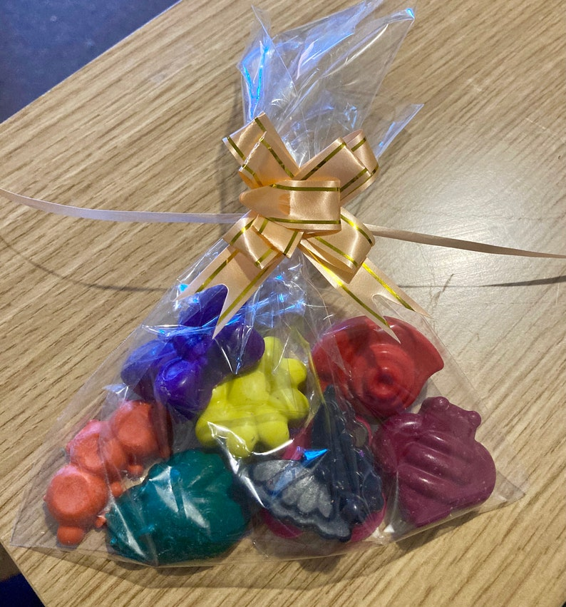 Handmade Crayons Bugs and Butterflies Shape 5 or 8 pack