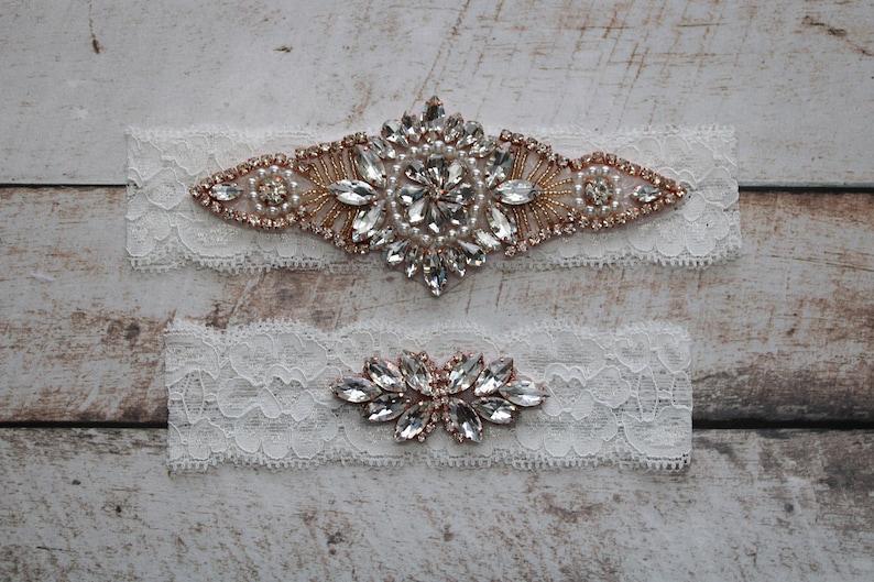 Crystal Bridal Garter Bridal Garter Wedding Garter WS85514 Wedding Garter Set Lace Bridal Garter Set