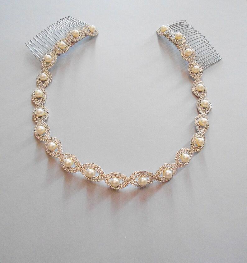 Bridal Headpiece Bridal Headband Silver Headpiece Prom Halo Wedding Headpiece Silver Bridal Headband Wedding Accessory