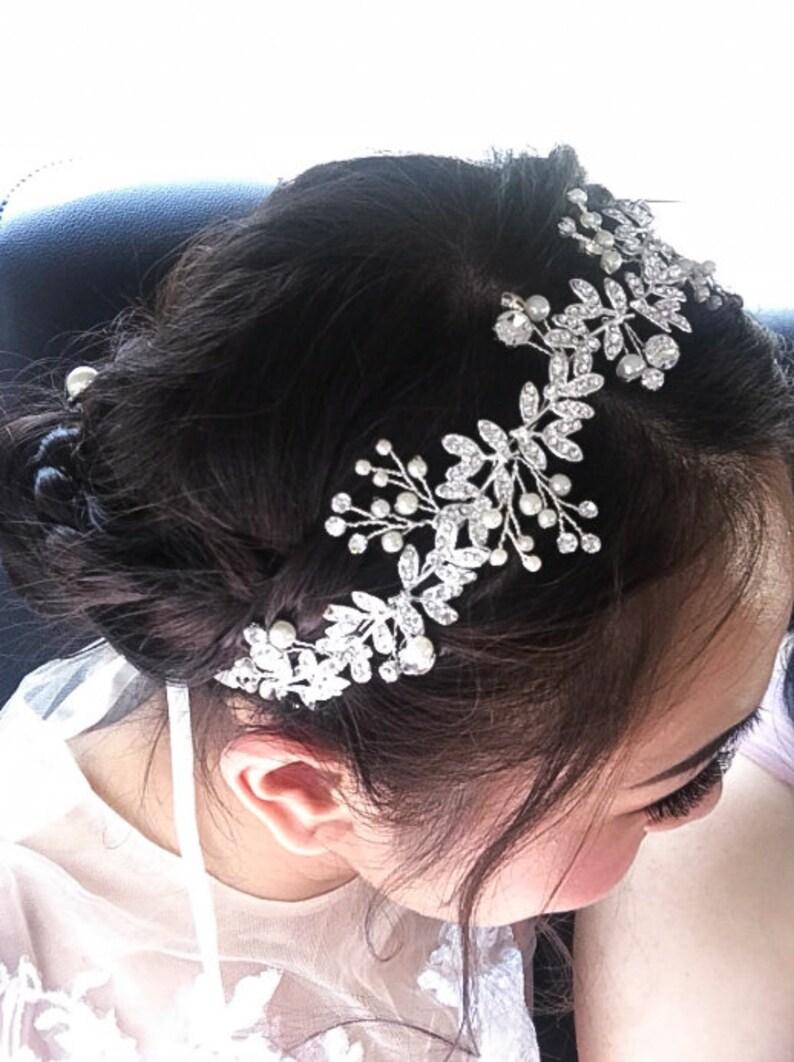 Bridal hair vine Bridal hair accessories Bridal hair vine Wedding hair piece Wedding hair Accessories Wedding hair vine BR518