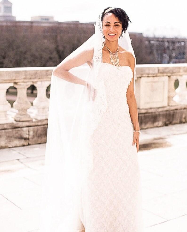 plain veil TS 718 chapel veil waltz veil Bridal veil elegant veil simple veil cathedral veil classic veil floor length veil