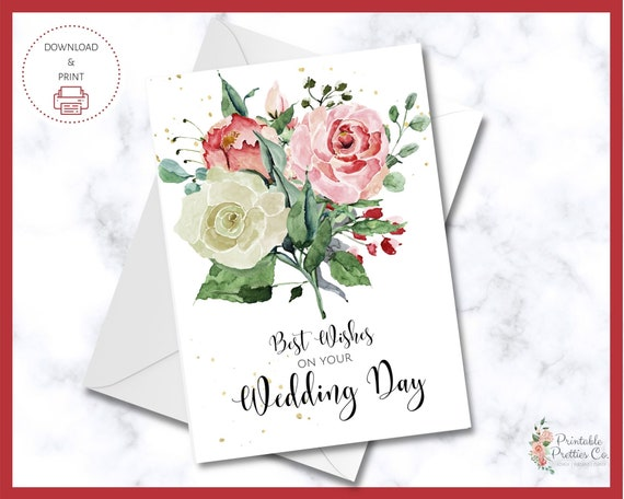 printable wed wedding card instant download Pun custom DIGITAL DOWNLOAD newlywed card congratulations breakfast pun waffley cute