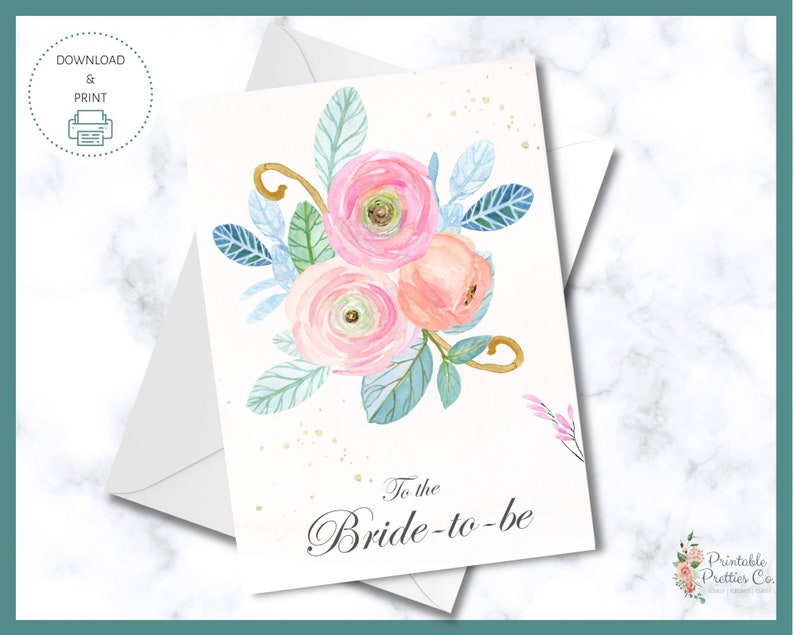 printable bridal shower card  bridal shower