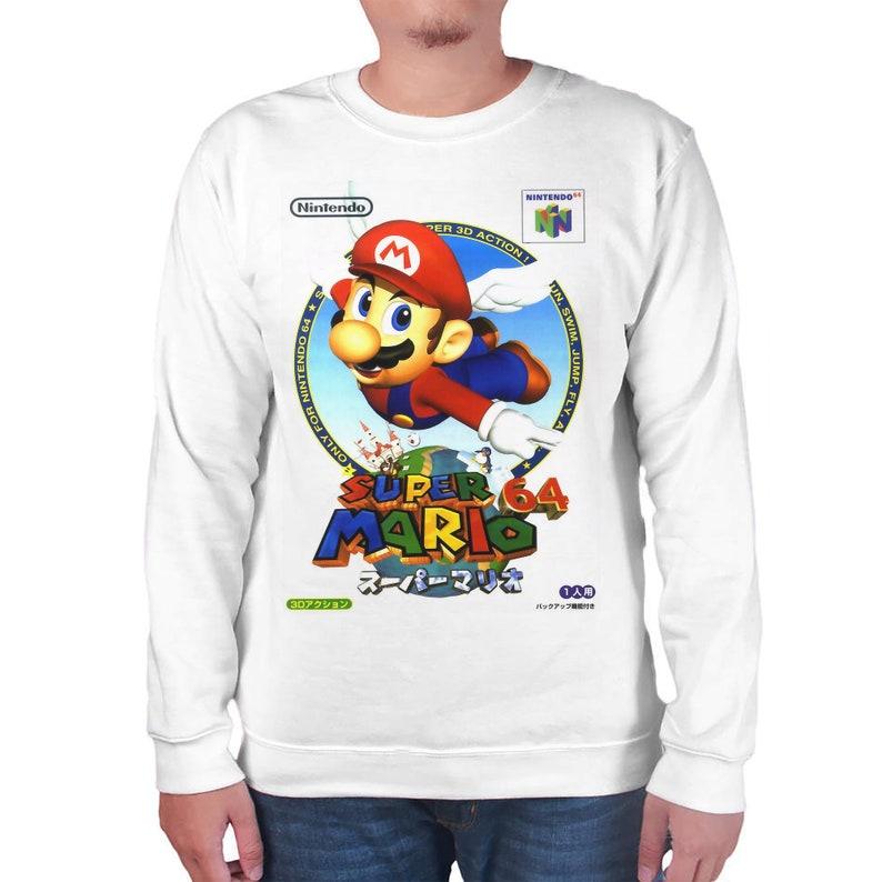 Gamer Christmas Gifts Video Game Shirts Retro Clothing Classics Shirt Super Mario 64 Custom Crewneck Unisex Mens /& Women/'s Clothing