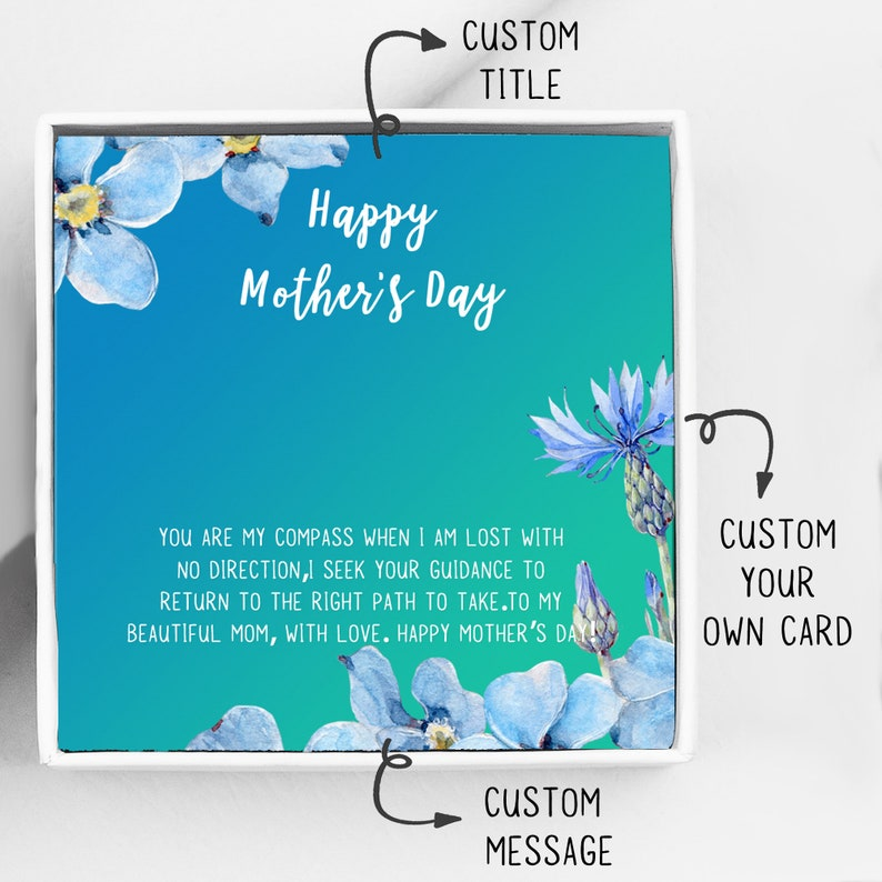 Customized Card Personalized Mothers Day Gift Card Add On Personalized Card Add On Customized Gift Card Mothers Day Card