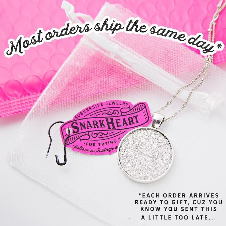 unique birthday gift snarky girls Mermaid Necklace make waves redhead siren oval brass charm