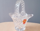 Vintage Anna Hutte Bleikristall Lead Crystal Flower Basket