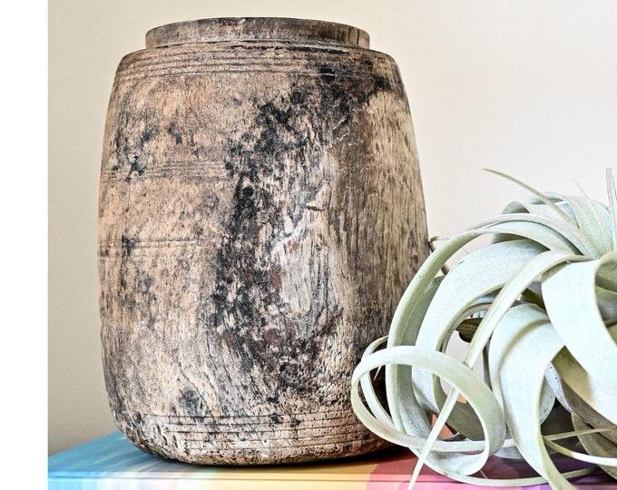 Rustic / Vintage Small Wooden Pot
