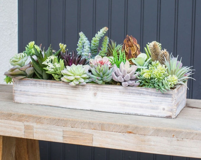 Faux Succulent Tray
