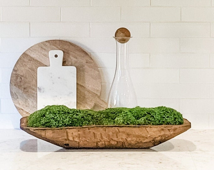 Decorative Preserved Mood Moss Bread Bowl