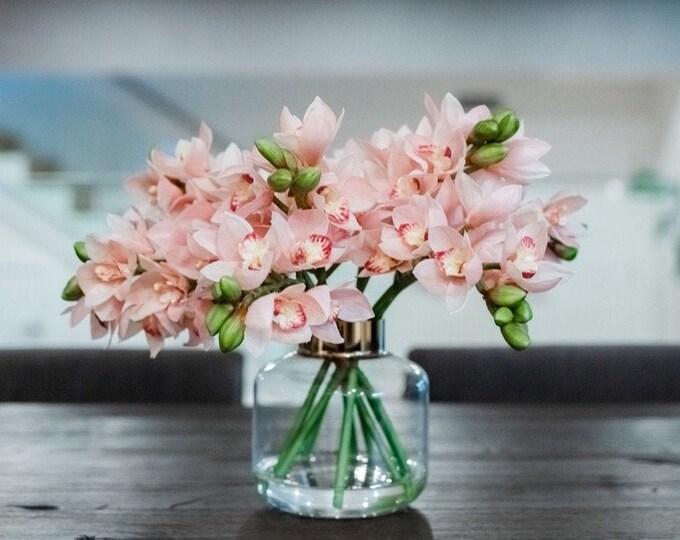 Faux Cymbidium Orchid Arrangement