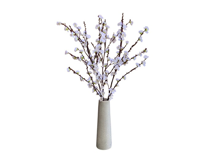 Faux White Cherry Blossom Branches