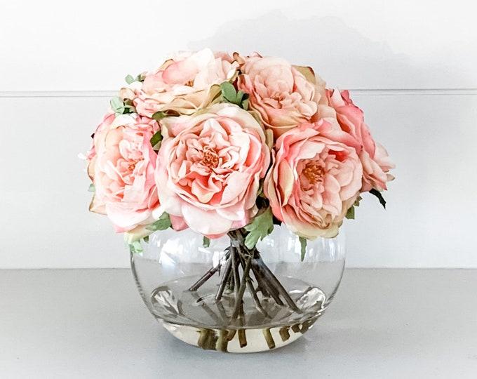 Faux Short Roses Arrangement