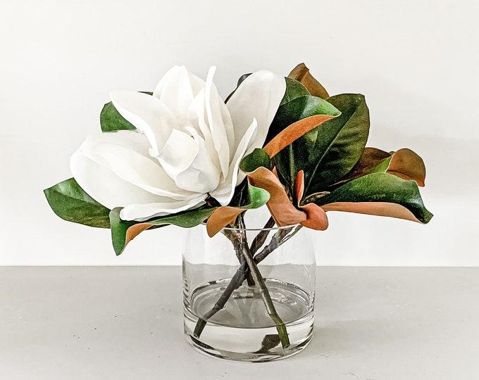 Faux Magnolia Arrangement