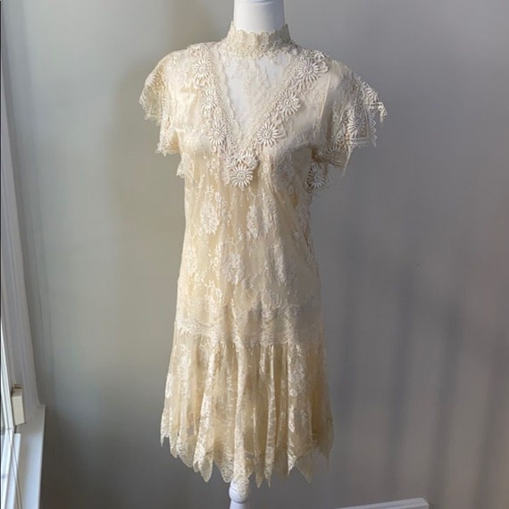 Vintage Jessica McClintock Flapper Wedding Dress